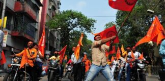 Bharatiya Janata Party leaders in West Bengal have exhorted people to take up arms against the state police
