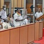 Closing address: Former Chief Minister V. Narayanasamy addressing the Assembly during the floor test on Monday.