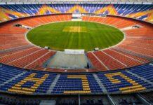 The stadium will be inaugurated on 24 February, 2021 by President Ram Nath Kovind. (Image: Twitter@RishabhPant17)