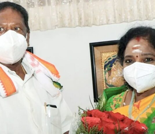 """Chief Minister V Narayanasamy accused BJP of planning an """"Operation Kamal (lotus)"""" in the Union Territory"""