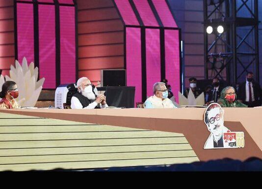 The Prime Minister, Shri Narendra Modi at the National Day programme of Bangladesh, in Dhaka, Bangladesh.